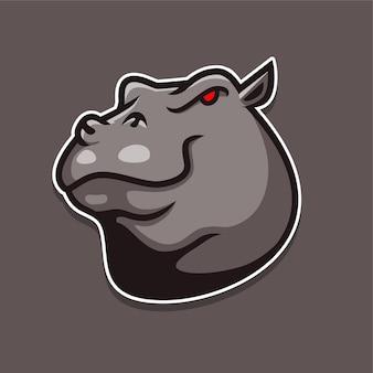 Logotipo de hipopótamo
