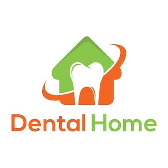Logotipo de hogar dental