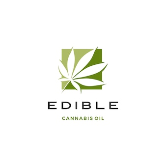 Logotipo de hoja de cannabis