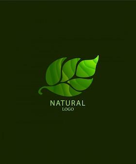Logotipo de la hoja en el estilo de corte de papel.