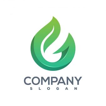 Logotipo de hoja g listo para usar.
