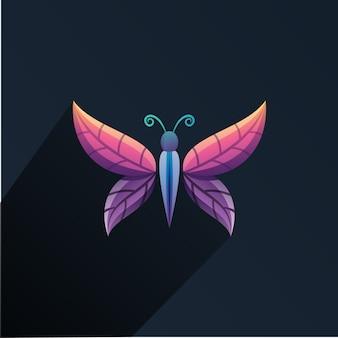 Logotipo de hoja de mariposa