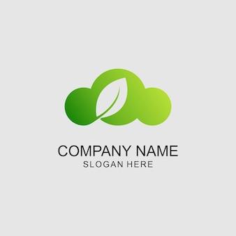 Logotipo de la hoja de nube