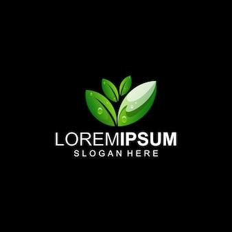Logotipo de hoja verde