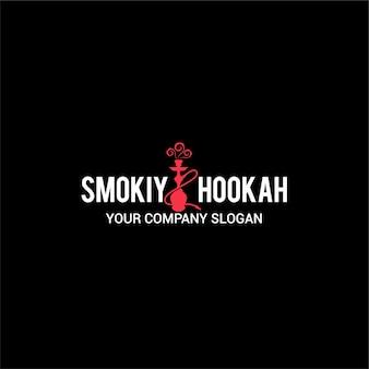 Logotipo de hookah ahumado