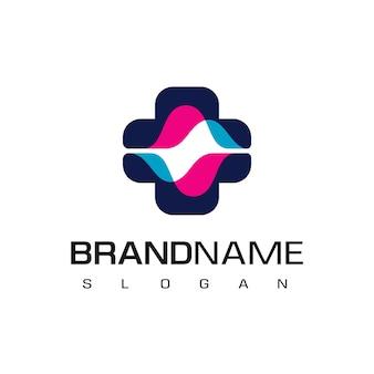 Logotipo de hospital con símbolo de espectro
