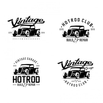 Logotipo de hot rod car