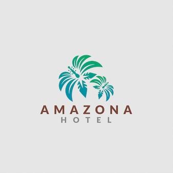 Logotipo del hotel de la selva