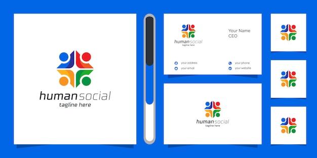Logotipo humano y tarjeta de visita.