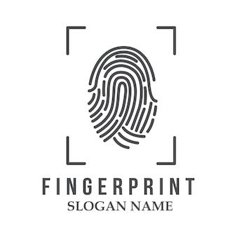 Logotipo de icono de diseño de ilustración de logotipo de huella digital