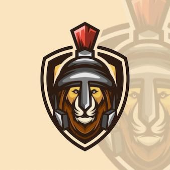 Logotipo icono guerrero león esports