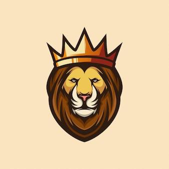 Logotipo icono león rey esports