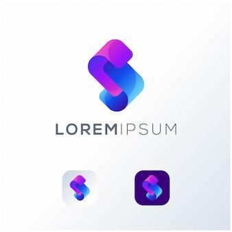 Logotipo de icono de letra s