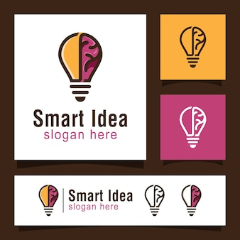 Logotipo de idea inteligente