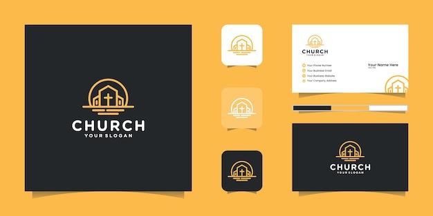 Logotipo de la iglesia y tarjeta de visita.