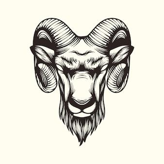 Logotipo de ilustración de cabra