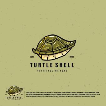 Logotipo de ilustración de caparazón de tortuga