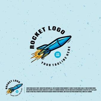 Logotipo de ilustración de cohete
