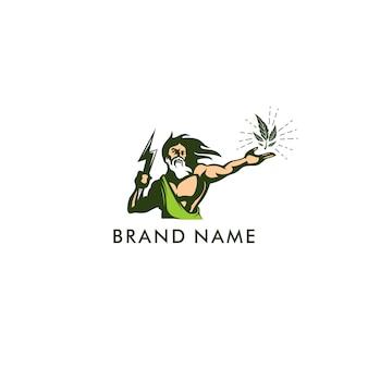 Logotipo de ilustración de zeus