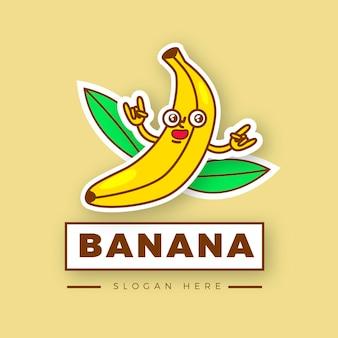 Logotipo ilustrado del personaje de banana
