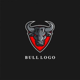 Logotipo impresionante escudo de toros