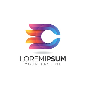 Logotipo impresionante de la letra c