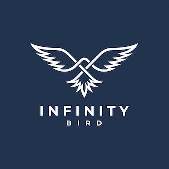 Logotipo de infinity bird