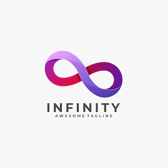 Logotipo de infinity colorful.