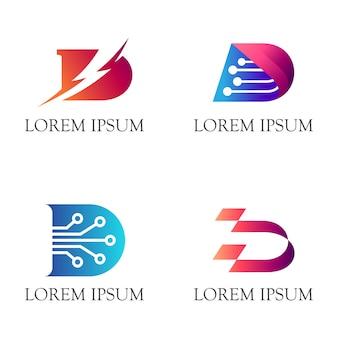 Logotipo inicial de d