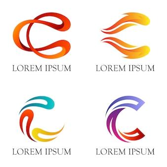 Logotipo inicial de la letra c