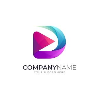 Logotipo inicial de la letra d