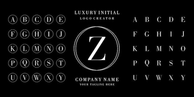 Logotipo inicial de letras del alfabeto de diseño.