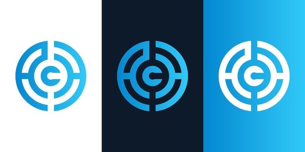 Logotipo inicial moderno de c