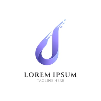 Logotipo inicial simple en minúscula d