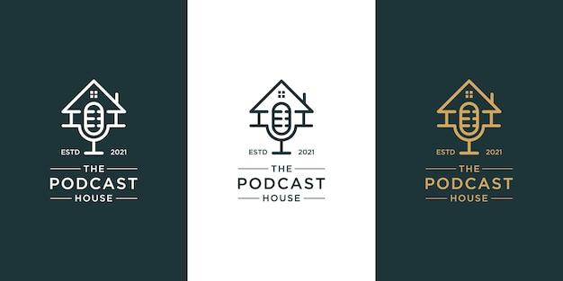 Logotipo de inicio de podcast
