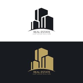 Logotipo de inmobiliaria con edificios