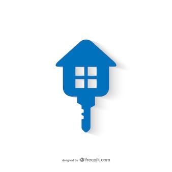 Logotipo de inmobiliaria con forma de llave