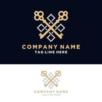 Logotipo inmobiliario de lujo