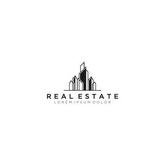 Logotipo inmobiliario, moderno y sencillo.
