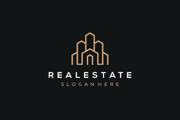 Logotipo inmobiliario moderno