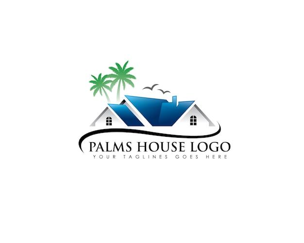 Logotipo inmobiliario de palma