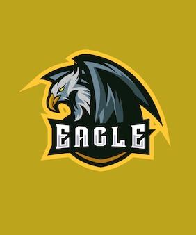 Logotipo de inocent eagle e sports
