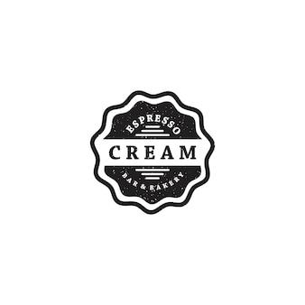 Logotipo de insignia de bar bakery vintage