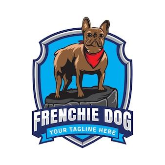 Logotipo de la insignia de bulldog francés