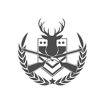 Logotipo de insignia de cazador de ciervos