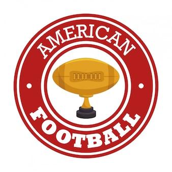Logotipo de insignia de deporte de fútbol americano