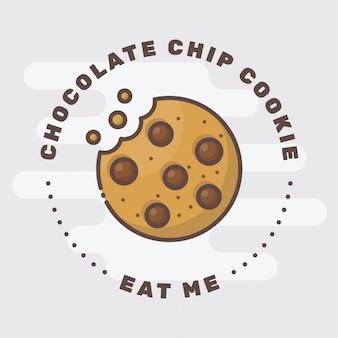 Logotipo de la insignia de la galleta