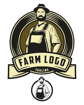 Logotipo de la insignia de la granja