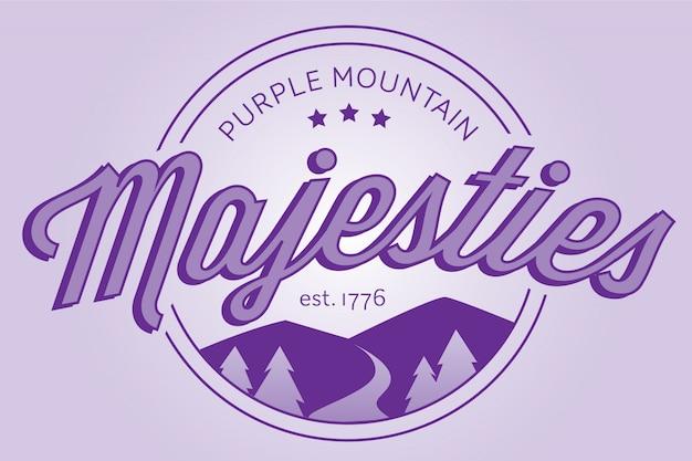 Logotipo de la insignia de las majestades de la montaña púrpura