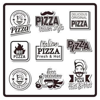Logotipo de la insignia de pizza